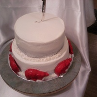 Razorback Wedding Cake Cant get my pics turned around.