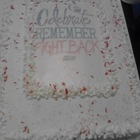 Relay For Life Cake donated to help fight cancer!!!