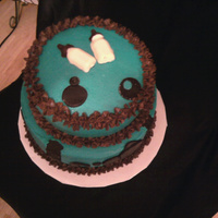 Teal Babyshower Not happy with how it turned out...but I'm still learning!!!