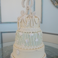 Romantic Pearls Wedding Cake The bride had a lot of input for her cake design and I made sure she had the cake of her dreams. ;)