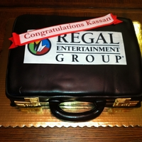 Briefcase Cake Fondant Briefcase with Double Chocolate Cake and Vanilla Buttercream
