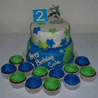 Buzz Lightyear Fondant cake with Buzz