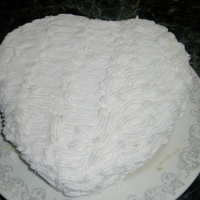 White Valentine Cake Practicing the zig zag technique