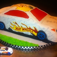 Hot Wheels This was my grandson's birthday cake. He wanted it to look just like his hot wheels car.