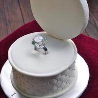 I Do 8 inch Engagement cake. I was given a photo to use as inspiration. I used that photo along with a cake photo by Kitagrl to help me. The...