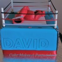 Boxing Ring Cake Made for a gentleman who loves all things boxing