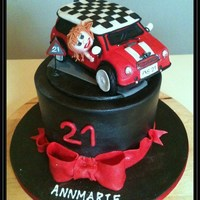 Mini Cooper Car Cake For 21St Birthday Vanilla Cake With Vanilla Buttercream And Rasperry Conserve Wrapped In Milk Chocolate Ganache All... Mini Cooper car cake for 21st birthdayVanilla cake with vanilla buttercream and rasperry conserveWrapped in milk chocolate ganacheAll...