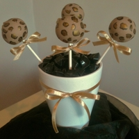 Leopard Print Cake Pops Had lots of fun making these!