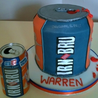 "Irn-Bru Fizzy Drink Cake This cake was made for a birthday,The customers boyfriend loves this brand of ""scottish"" fizzy drink..All details ediblePic of..."