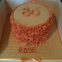 Peach Ruffles Birthday Cake