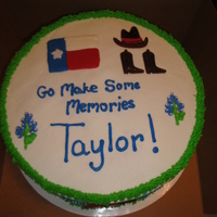 Texas Theme Cake Texas themed cake for high school grad.