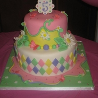 Daisy Birthday Cake This cake was inspired by Andrea's Sweetcakes.