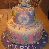 1St Birthday Cake With Elephant Topper This cake was made for a little girl's first birthday. The only thing that was asked of me was to place an elephant on the top of the...