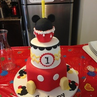 Mickey Mouse Themed Cake Mickey Mouse themed cake. .