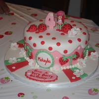 Strawberry Shortcake Themed Cake This cake was done for a friend's daughter's 4th birthday.