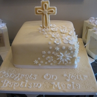 Baptism Cake This cake was made for my friend's soon to be sister in law. She just celebrated her baptism and I was asked to make a cake and all...