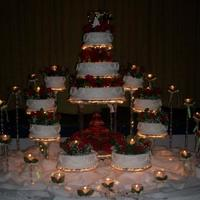 Antoinette An eleven tier, illuminated cake system for 500 guests.