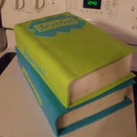 Book Cake I made this for a raffle that was help at our local Barnes & Noble. Chocolate cake with fondant (Ice n Easy). Thank you Sugarshack for...