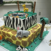 Jungle Cake Jungle cake for a baby shower for an adopted boy