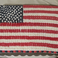 Flag Cake Red velvet with vanilla buttercream
