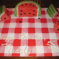 Watermelon Cake Watermelon Cake for 2nd birthday