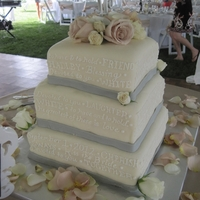 3-Tier Square Wedding Cake