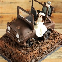The Bride Wanted Her Groom To Have His Jeep For His Cake He Loves To Go Mud Riding And Hunting So We Also Incorporated Those Elements T The bride wanted her groom to have his Jeep for his cake. He loves to go mud-riding and hunting, so we also incorporated those elements!...