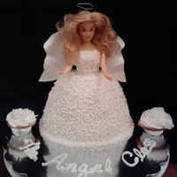 Angel Cake Angel Cake with cornelli lace skirt and fondant wings