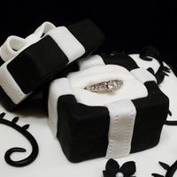 Black & White Pillow Cake