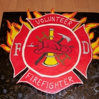 Firefighter Symbol Brownie Cake