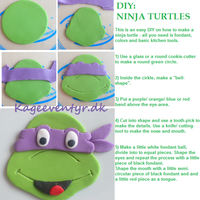 Diy Ninja Turtles This is an easy way to make ninja turtle decorations for cupcakes and cakes.