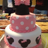 Minnie Mouse Cake For my daughters 2nd birthday!