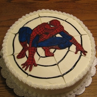 Spiderman Fondant/gumpaste painted decal