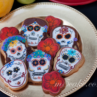 Dia De Los Muertos Cookies Cookies decorated with fondant, RI and hand painted