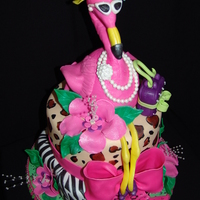 "Fancy ""retirement"" Pink Flamingo Cake!"