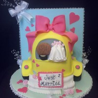 Just Married  Just married car cake, I had so much fun making this cake and I am very excited with how it turned out. The cake design was I inspired by a...