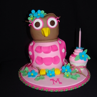 Little Owl 1St Birthday Cake   This cute little owl cake was made to wish Mary Lou a very Happy 1st Birthday!!!