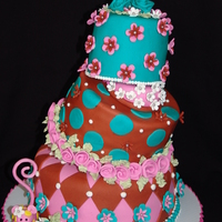Whimsical Floral Topsy Turvy Birthday Cake!  Hi everyone, this is my Very Merry Whimsical Topsy Turvy Birthday Cake! So much fun!!! and everything the birthday girl wanted... lots of...