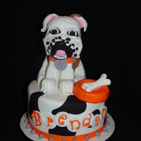 """marty"" The Bulldog Birthday Cake   This cake was for a young man you was turning 12... and he loves this bulldog ""Marty""!"