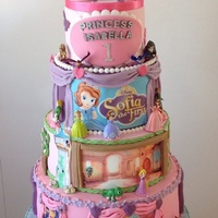 Disney Princess 1St Birthday Cake