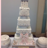 Bejewelled Wedding Cake