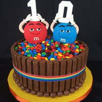 M&m Barrel Cake This is the second M&M barrel cake I've made. I pumped up the volume a bit on this one making the M&M guys and numbers out of...