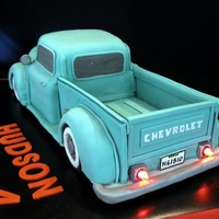 Classic Chevy Truck I about threw in the towel on this one!!. I had to take off some of the fondant and re-do it on the cab. it was quite a learning experience...