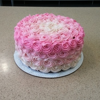 Pink Ombre Rosette Cake With Matching Smash Cake