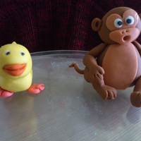 Monkey N Duck Cake Topper