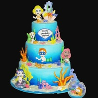 Bubble Guppie Cake This was a fun cake to make. I loved making the bubble Guppies as it was a new challenge. I think I did pretty good considering I no idea...