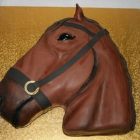 Horse Head Choc mud cake. Fondant and hand painted.