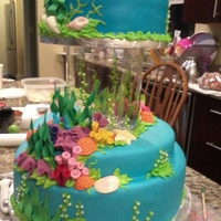Tropical Ocean Wedding Cake Got lots of help from all of you. There is a place in the center to put a live fish. Loss of fun