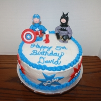 Super Hero Cake Batman and Captain America