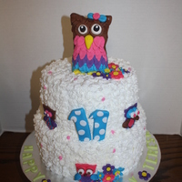 Owl Is Made From Rkt Covered In Fondant Owl is made from RKT covered in fondant